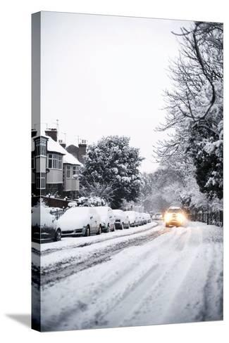 Snow-covered Road-Ian Boddy-Stretched Canvas Print