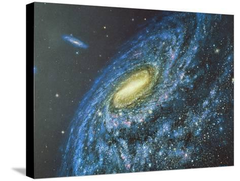 Artwork of the Milky Way Viewed From Outside-Chris Butler-Stretched Canvas Print