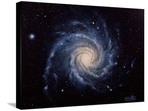 Spiral Galaxy M74-Chris Butler-Stretched Canvas Print