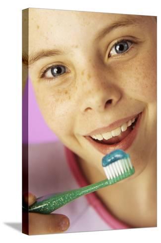 Brushing Teeth-Ian Boddy-Stretched Canvas Print