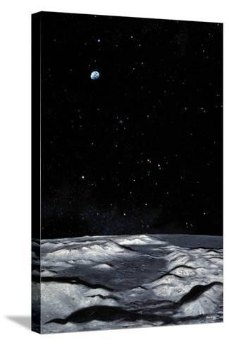 Apollo 17 Landing Site on Moon-Chris Butler-Stretched Canvas Print