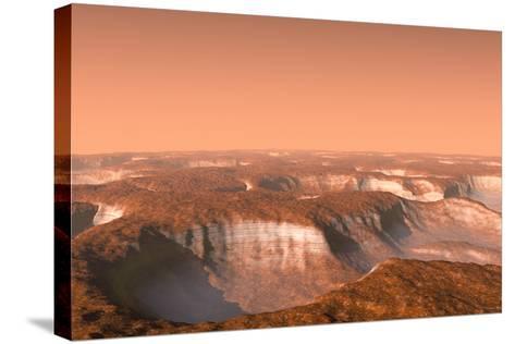 Carbon Dioxide Ice on Mars, Artwork-Chris Butler-Stretched Canvas Print