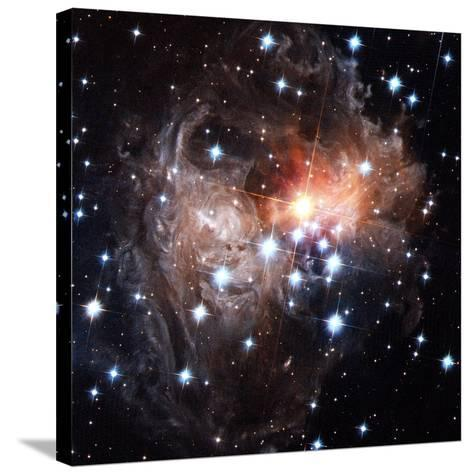 Light Echoes Around Star V838 Monocerotis-H. Bond-Stretched Canvas Print