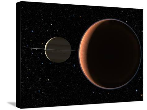 Saturn's Moon Titan-Chris Butler-Stretched Canvas Print
