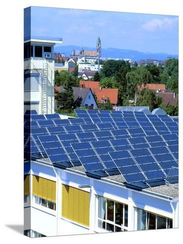 Rooftop Solar Panels, Germany-Martin Bond-Stretched Canvas Print