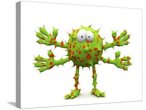 Germ, Conceptual Computer Artwork-Robert Brocksmith-Stretched Canvas Print