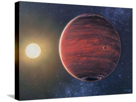 Artwork Depicting the Planet 51 Pegasi B & Its Sun-Chris Butler-Stretched Canvas Print