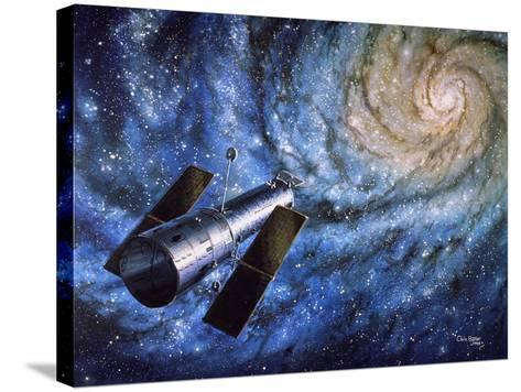 Hubble Telescope-Chris Butler-Stretched Canvas Print