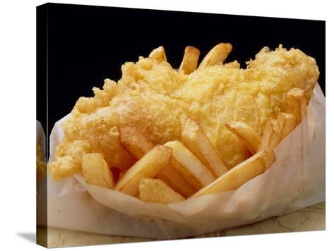 Close Up of Fried Fish & Chips-Tony Craddock-Stretched Canvas Print