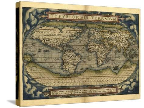 Ortelius's World Map, 1570-Library of Congress-Stretched Canvas Print