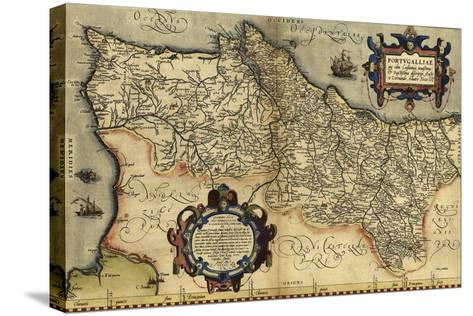 Ortelius's Map of Portugal, 1570-Library of Congress-Stretched Canvas Print
