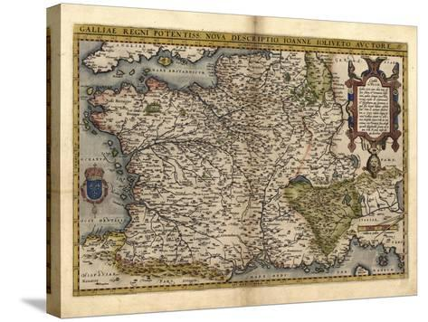 Ortelius's Map of France, 1570-Library of Congress-Stretched Canvas Print