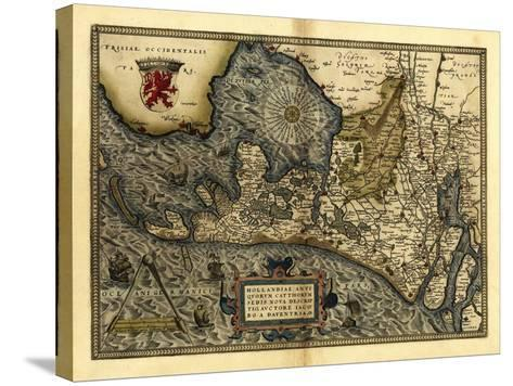 Ortelius's Map of Holland, 1570-Library of Congress-Stretched Canvas Print