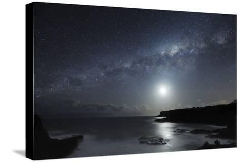 Milky Way Over Mornington Peninsula-Alex Cherney-Stretched Canvas Print