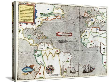 Sir Francis Drake's Voyage 1585-1586-Library of Congress-Stretched Canvas Print
