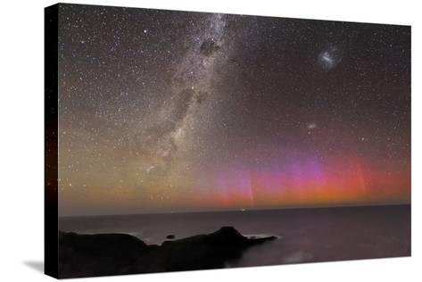 Aurora Australis And Milky Way-Alex Cherney-Stretched Canvas Print