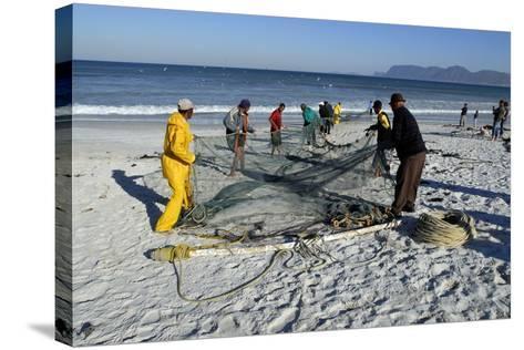 Trek Net Fishing-Peter Chadwick-Stretched Canvas Print