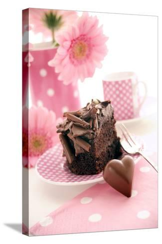 Chocolate Cake-Erika Craddock-Stretched Canvas Print
