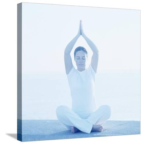 Yoga Meditation-Cristina-Stretched Canvas Print