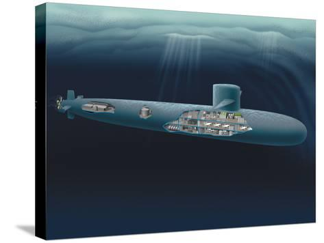 Research Submarine-Henning Dalhoff-Stretched Canvas Print