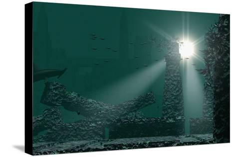 Underwater Atlantis-Christian Darkin-Stretched Canvas Print