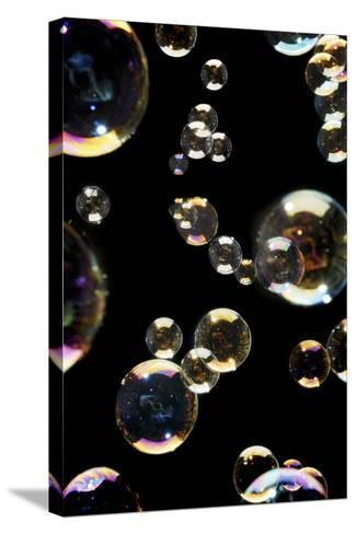 Bubbles-Crown-Stretched Canvas Print