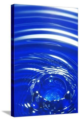 Water Drop Impact, High-speed Photograph-Crown-Stretched Canvas Print