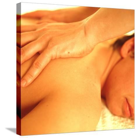 Massage-Cristina-Stretched Canvas Print