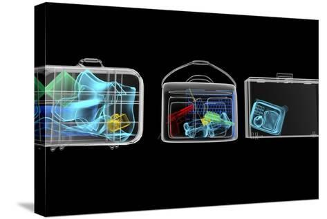Baggage Surveillance, Simulated X-ray-Christian Darkin-Stretched Canvas Print