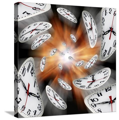 Time Warp, Conceptual Artwork-Victor De Schwanberg-Stretched Canvas Print
