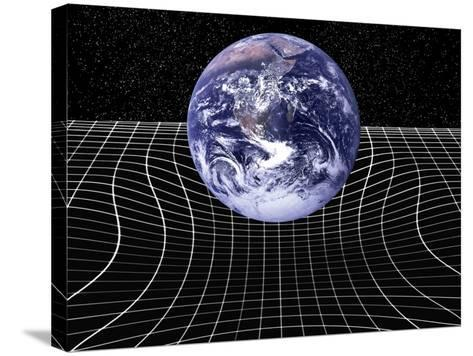 Warped Space-time Due To Gravity-Victor De Schwanberg-Stretched Canvas Print