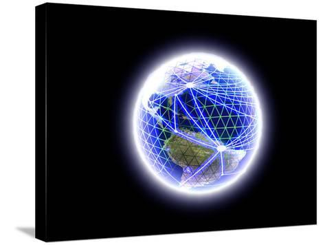 Worldwide Communication-Christian Darkin-Stretched Canvas Print