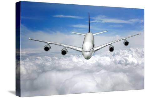 Jet Flight, Composite Image-Victor De Schwanberg-Stretched Canvas Print