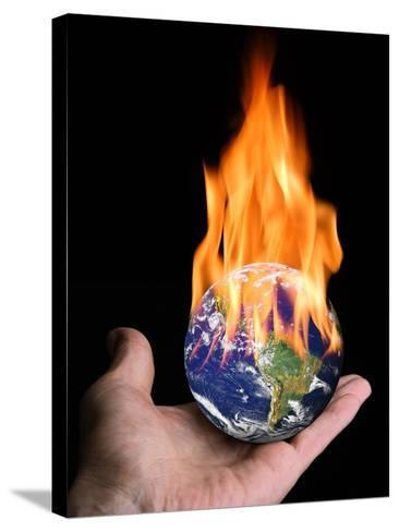 Global Warming, Conceptual Artwork-Victor De Schwanberg-Stretched Canvas Print