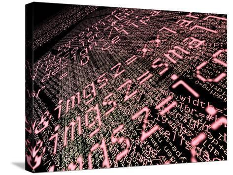 Internet Computer Code-Christian Darkin-Stretched Canvas Print