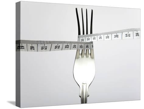 Dieting, Conceptual Image-Victor De Schwanberg-Stretched Canvas Print