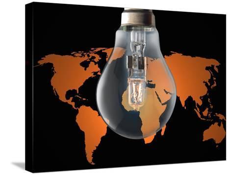 Global Energy Consumption-Victor De Schwanberg-Stretched Canvas Print