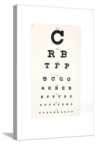 Eyesight Test Chart-Gregory Davies-Stretched Canvas Print