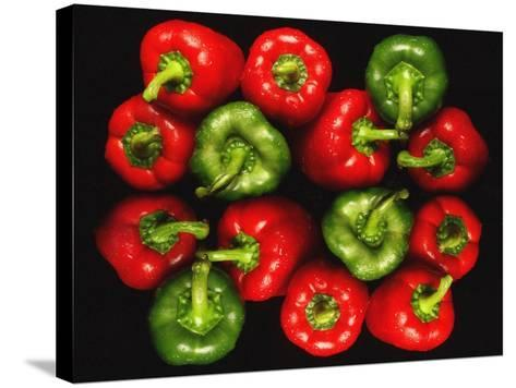 Red And Green Peppers-Victor De Schwanberg-Stretched Canvas Print