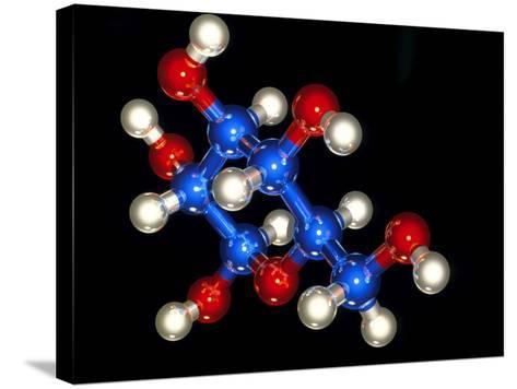 Glucose Molecule-Laguna Design-Stretched Canvas Print