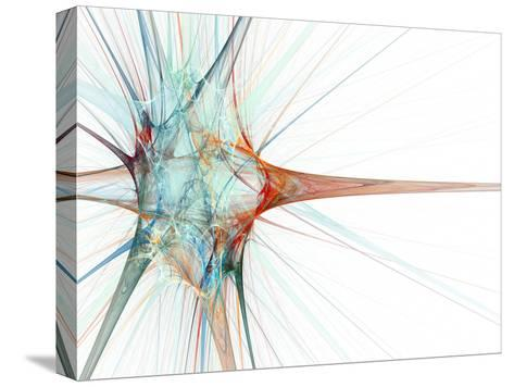 Nerve Cell, Abstract Artwork-Laguna Design-Stretched Canvas Print