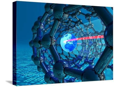 Nanotube Technology, Conceptual Artwork-Laguna Design-Stretched Canvas Print