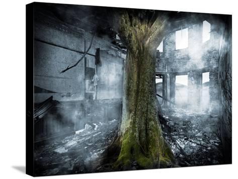 Dystopia, Conceptual Artwork-Victor Habbick-Stretched Canvas Print