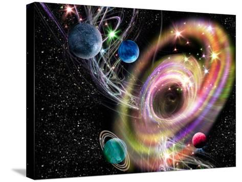 Black Hole-Victor Habbick-Stretched Canvas Print