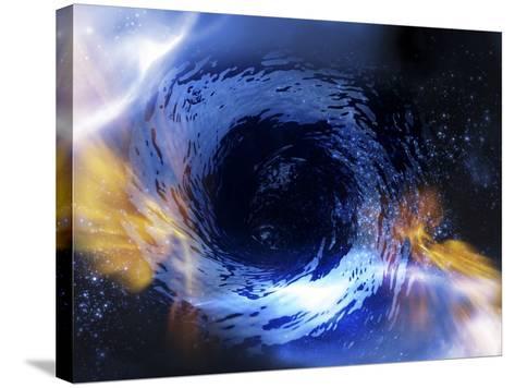 Black Hole, Conceptual Artwork-Victor Habbick-Stretched Canvas Print