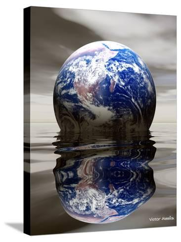 Earth-Victor Habbick-Stretched Canvas Print