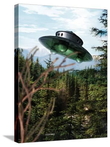 Alien Spaceship-Victor Habbick-Stretched Canvas Print