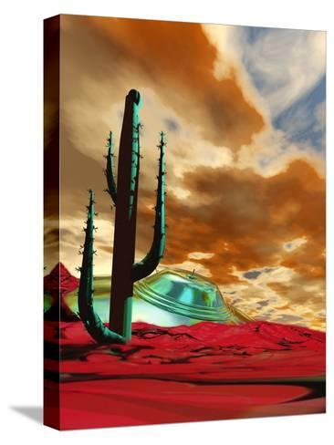 Crashed Alien Spacecraft-Victor Habbick-Stretched Canvas Print