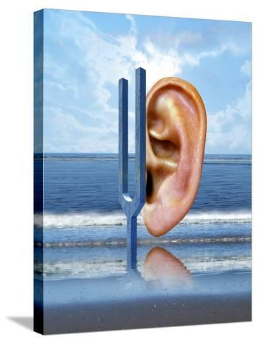 Tinnitus-Victor Habbick-Stretched Canvas Print