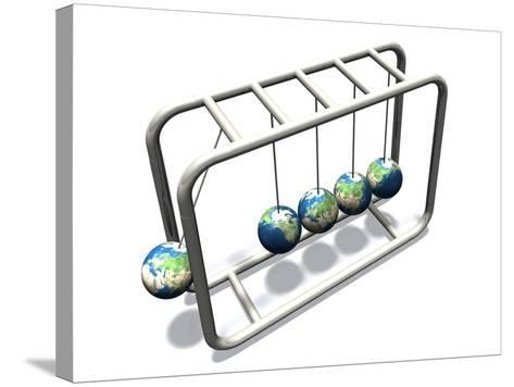 Newtonian Earth, Artwork-Victor Habbick-Stretched Canvas Print